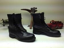 BLACK LEATHER ADDISSON MILITARY FLYER MOTORCYCLE ZIPPER LACE UP BOOTS SIZE 8.5 D