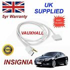 Vauxhall INSIGNIA Series 3GS 4 4S iPhone iPod USB & Aux Audio Cable White