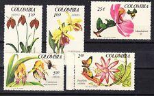 Colombia Scott 768-769,C489-C491 Mint NH (Catalog Value $14.70)
