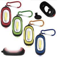 Portable Waterproof Mini COB LED Flashlight Camping Keychain Torch Light Lamp