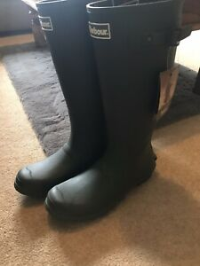 Barbour Mens Wellies Wellingtons Size 10 Brand New Without Box