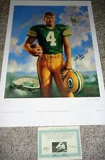GREEN BAY PACKERS BRETT FAVRE AUTOGRAPHED RARE MVP INSCRIPTION LE ART LITHOGRAPH