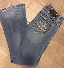 Miss Me Jeans JP5004 Boot Distressed Medium Wash Size 28x32