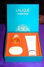 LALIQUE  LES GESTES PARFUMES MINIATURE PARFUM SOAP & LOTION SET NEW IN BOX