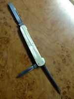 "VINTAGE 1946 SCHRADE WALDEN NY USA  WITH 2.75"" CRACKED ICE HANDLE MANICURE KNIFE"