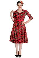 Hell Bunny Poppy Retro Pin-up Rockabilly Party Remembrance Day Classic 50s Dress