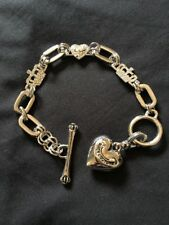 Chunky Juicy Couture Bracelet Silver Tone With 3 Charm Stations