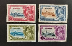 """Bahamas 1935, """"Silver Jubilee"""" set of 4x mint stamps mh"""