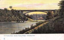 Pittsburgh Pennsylvania~Schenley Park~Panther Hollow Bridge~1906 Postcard~TUCK