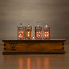 Nixie Tube Clock Dolam LC-531 Nixie Clock Vintage Retro Desk Table Clock Wooden