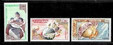 HICK GIRL- MINT LAOS STAMPS   SC#48-50    1958  UNESCO  ISSUES      E1009