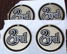 "lot of 4 trophy parts 2"" diameter mylar insert ""3rd"" by Pdu gold & black"