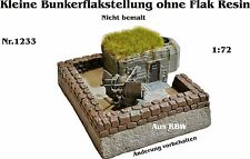 Neu Für Diorama Nr.1233 Kleine Bunkerflakstellung ohne Flak 1:72 Resin