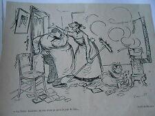 1905  Caricature Print de  Poulbot La ferme Eudoxie