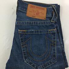TRUE RELIGION Jeans Bobby Sz 28 Straight Leg Rise Medium Wash Distressed USA