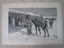 Vintage Print,WHITE MANS BIG SUNDAY,#2,Harpers,c1880,Remington