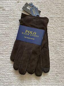 Polo Ralph Lauren Brown Suede Gloves Size M