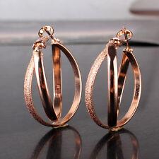 Promise hoop earring 18k rose gold filled stylish lady stylish wedding earring