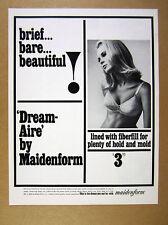 1965 Maidenform Dream-aire Bra pretty blond woman photo vintage print Ad