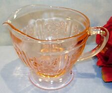 Pink Depression Glass Sharon Cabbage Rose Creamer