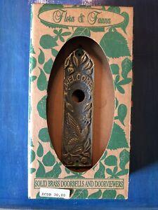 Artisans Flora&Fauna       SOLID BRASS DOORBELL/DOORVIEWER HUMMINGBIRD      DB30