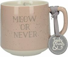 More details for creative tops meow or never mug - pink 500ml - wonderful gift for cat lovers
