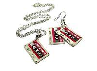 Cassette Tape 80s 90s Retro Set Disco Pop Pendant Chain Necklace Earring Choice