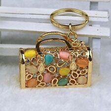 Women Crystal Handbag Keyring Rhinestone Charm Pendant Key chain Key Chain Gift