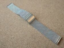 New 20mm Silver Stainless Steel Mesh Milanese Bracelet Watch Strap