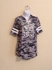Jerry Leigh Hoodie Shirt Gray Camo