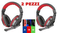 2PZ CUFFIE GAMING MICROFONO Trust X PC XBOX ONE PS4 SWITC gioco chat pc telefono