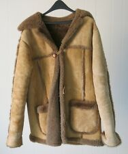 Vintage Mens Sheepskin Coat Shearling Large Retro Cowboy Winter Fall Jacket Used