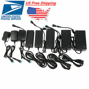12V AC to DC Wall 1A 2A 2 pin / 3A 5A 3 pin Power Supply Adapter 100 / 240 Volt