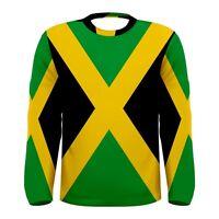 New cool jamaican flag Sublimated Men's Long Sleeve T-shirt S M L XL 2XL 3xl