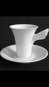Rosenthal MYTHOS Wunderlich weiß, Kaffeetasse 2 teilig