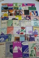 Lot 50 Pieces Vintage Sheet Music 1900's - 1970's - As Found Condition