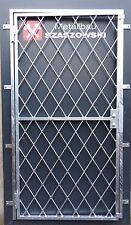 Gittertür Feuerverzinkt Einbruchschutz - Modell Kreuz