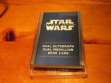 2016 STAR WARS FORCE AWAKENS SERIES 2 BOOK CARD DUAL AUTOGRAPH MEDALLION 2/5