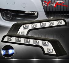 "2X 7"" L SHAPE DAYTIME DRIVING RUNNING LED DRL FOG SIGNAL TURN BUMPER LIGHTS LAMP"