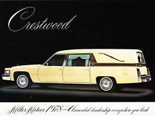 Print.  Ivory 1978 Cadillac Crestwood Funeral Coach Ad