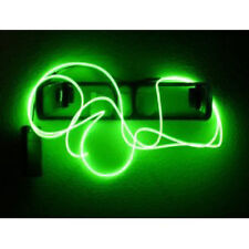 10ft Flexible Neon Light Glow EL Wire Rope Tube Car Dance Party+Controller Green