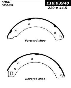 Rr Premium Brake Shoes Centric Parts 111.03940