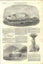 1852 Hong Kong Fire NAVE FORT WILLIAM LANCIO faid gihaad Blackwall PAZZO