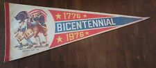 historic USA PENNANT flag VINTAGE 1776 BICENTENNIAL 1976 commemorate men cave