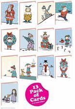 Noël Cartes voeux lot multiple de 13 Drôle Comédie Mignon coquin humour