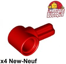 Lego technic - 4x Axe Axle connector Hub 1 rouge/red 22961 NEUF