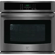 """Kenmore 30"""" Electric Single Convection  Wall Oven 49517 Black Stainless Steel"""