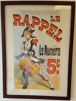 Les Maitres de L'Affiche -lithograph, professionally framed under glass