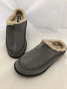 Sorel Falcon Ridge Slippers Men's Size US 8 EU 41 Shale Gray New