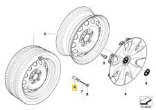 Original Mini E81 E87 E88 E82 F20 F21 F40 Rubber valve L = 48,5MM 36121178869 NEW